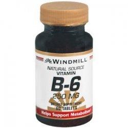 Vitamin B-6 TABS 250 MG WMILL Size: 60