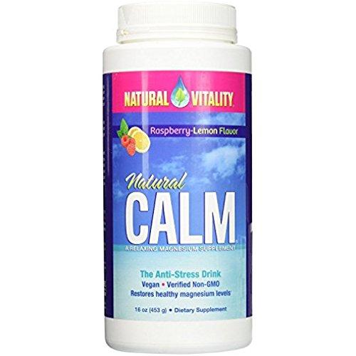 Natural Vitality Natural Calm Magnesium Anti Stress, Organic, Raspberry Lemon, 16 oz
